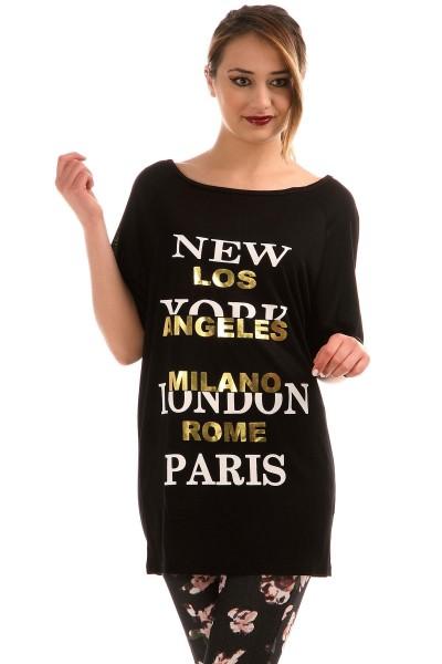 Kayık Yaka Patırtı Giyim Tişört Modelleri