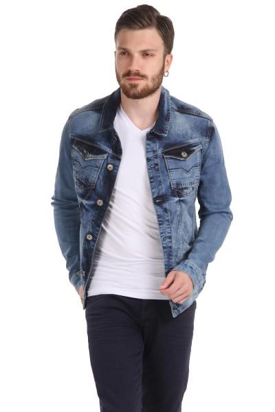 Patırtı Giyim Taşlamalı Kot Ceket Modeli 2016