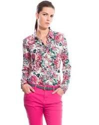 En Güzel Çiçek Desenli Bayan Gömlek Kombinleri
