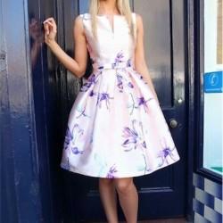 En Güzel Çieçek Desenli Yazlık Midi Elbise Modelleri 2016