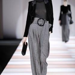 En Moda Yüksek Bel Kumaş Pantolon Kombinleri 2016