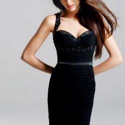 En Trend Siyah Askılı Elbise Modelleri 2016