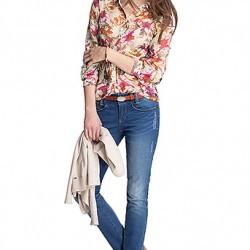 En Yeni Çiçek Desenli Bayan Gömlek Modelleri 2016