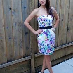 Kemer Detaylı Çok Şık Yazlık Midi Elbise Modelleri 2016