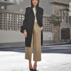 Sokak Modası Yüksek Bel Kumaş Pantolon Modelleri 2016