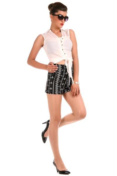 Yüksek Bel Patırtı Bayan Şort Modelleri 2016