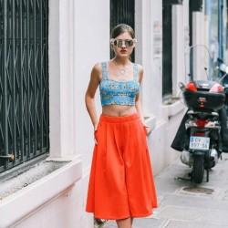 Yazlık Pantolon Etek Modelleri Sokak Modası 2016
