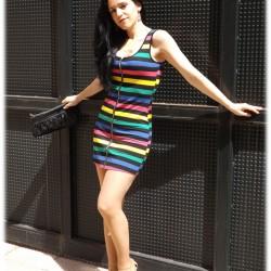 Yazlık Rengarenk Askılı Elbise Modelleri 2016