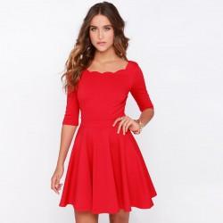 Yeni Sezon Kırmızı Elbise Modelleri 2016