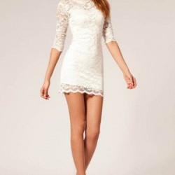 Beyaz Renk En Zarif Elbise Modelleri