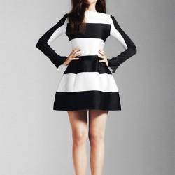 Siyah Beyaz Genç Elbise Modelleri 2016