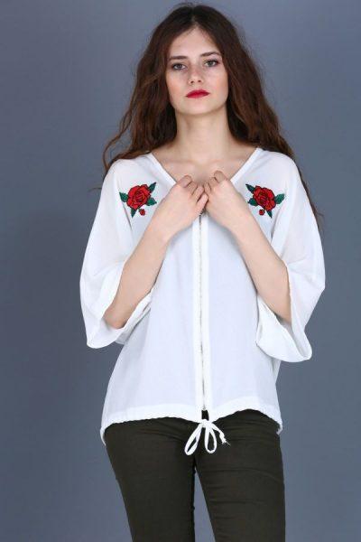 Ön Fermuar Detaylı Bluz Modelleri 2017