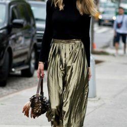 New York Sokak Modası Pileli Etekler 2018