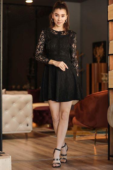 Patırtı giyim siyah dantelleri elbise modelleri 2021